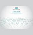 abstract technology background with blue border vector image vector image