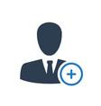 add friend icon vector image