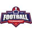 american football tournament logo vector image vector image