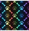 Animal spectrum seamless pattern of paw vector image