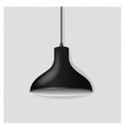 black hanging lamp isolated transparent background vector image vector image