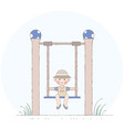 boy on the swing vector image vector image