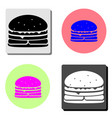 burger flat icon vector image