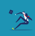 businessman slipped on a banana peel concept vector image