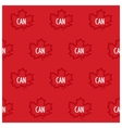 Canadian maple seamless pattern vector image