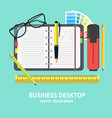 cartoon business workplace card vector image vector image