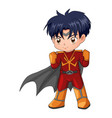 chibi style a superhero vector image vector image