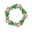christmas holiday wreath icon vector image vector image
