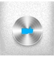 Chrome like button on grungy background vector image vector image