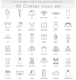 Clothes footwear ultra modern outline line vector image