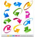 Collection of colour arrows