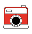 color silhouette image cartoon analog camera with vector image vector image