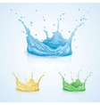 Color Water Splash vector image