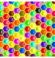 colorful hexagons background vector image vector image
