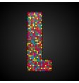 Colorful sequins sings Sequins alphabet Eps 10 vector image