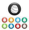 cream caramel icons set color vector image