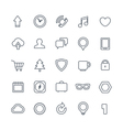 Different web icons collection isolated on white vector image vector image