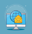 email marketing design vector image vector image