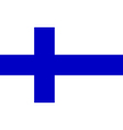 Flag of Finland vector image