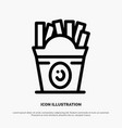 fries fast food food usa line icon vector image vector image
