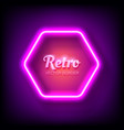 glowing neon frame on colorful dark background vector image vector image
