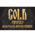 Gold typeface set vector image vector image