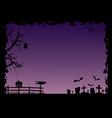 halloween fram vector image vector image
