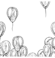 hand drawn frame balloons vector image