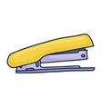 handdrawn stapler doodle icon hand drawn sign vector image vector image