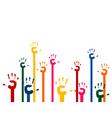 hands upwards vector image vector image