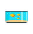 home fish aquarium icon flat style vector image vector image