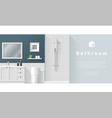 Interior design Modern bathroom background 2 vector image vector image