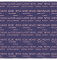 latest news seamless pattern vector image vector image