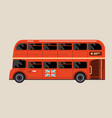 london red bus - double-decker bus side view vector image vector image