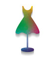 Mannequin with dress sign colorful icon
