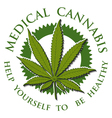 Medical Cannabis-emblem vector image vector image