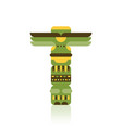 native traditional totem pole vector image vector image