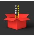 Open box mockup template vector image vector image