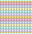 pastel multicolor seamless pattern with triangles vector image