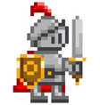 pixel-game character of vector image vector image