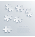 puzzle background Eps10 vector image vector image