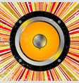 retro speaker background vector image vector image