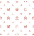 roof icons pattern seamless white background vector image vector image