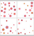 sakura cherry flower petals flying backgrounds set vector image