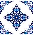 seamless damask pattern ornament for fabric vector image vector image
