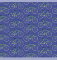 seamless pattern green bikes vector image vector image