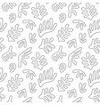 seamless pattern with abstract hand drawn shapes vector image vector image