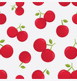 seamless pattern with cherry berries vector image vector image