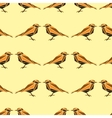 Seamless pattern with geometric birds vector image