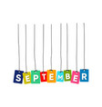 september word vector image vector image